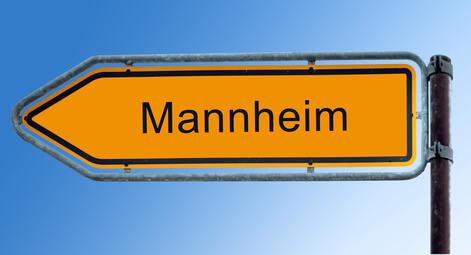 Tachojustierung Mannheim, Strassenschild Mannheim Tachojustierung